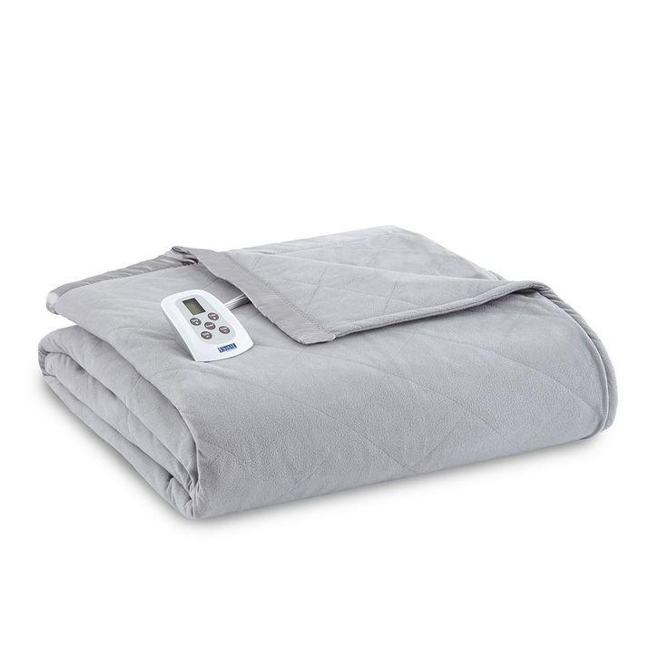 Micro Flannel® Electric Heating Blanket, Grey