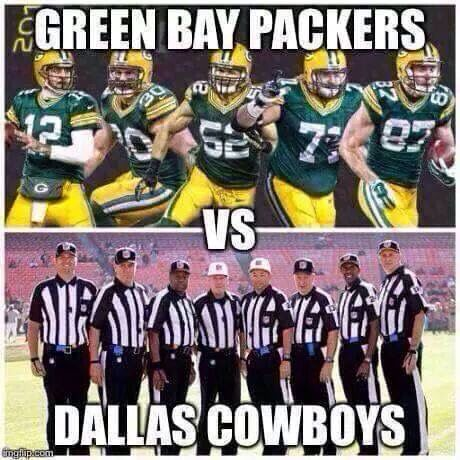 Packers vs refs lol