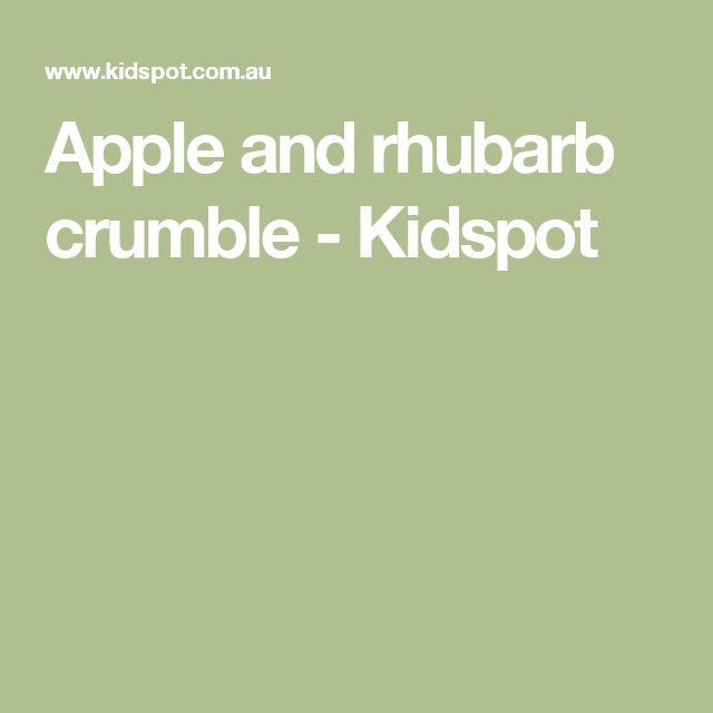 Apple and rhubarb crumble - Kidspot