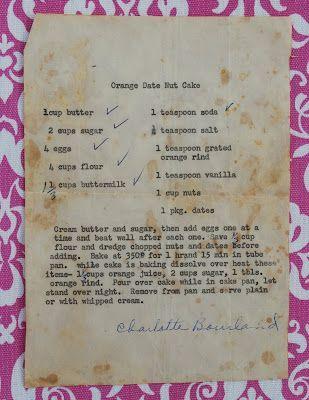 Preserving Recipes by Alli: Orange Date Nut Cake