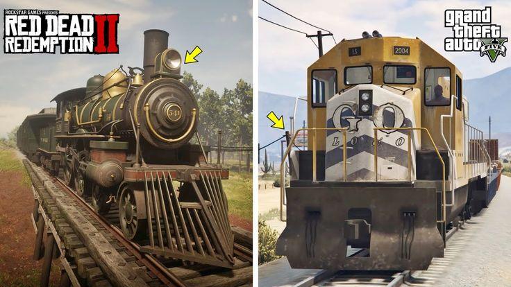 GTA 5 TRAIN VS RDR 2 TRAIN (CAN YOU STOP THE TRAIN?) GTA