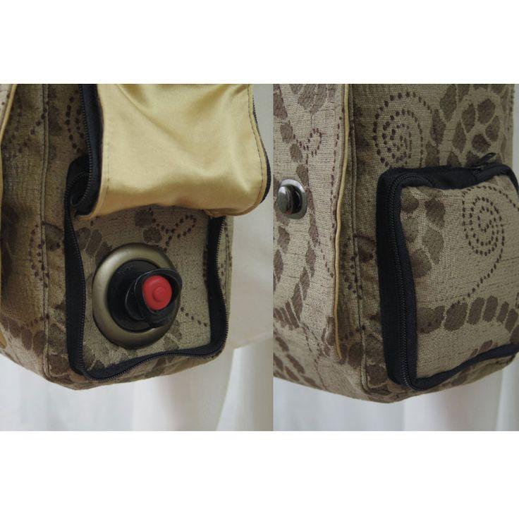 wine bag. box of wine purse. hidden field bag. beverage tote. $39.00, via Etsy.