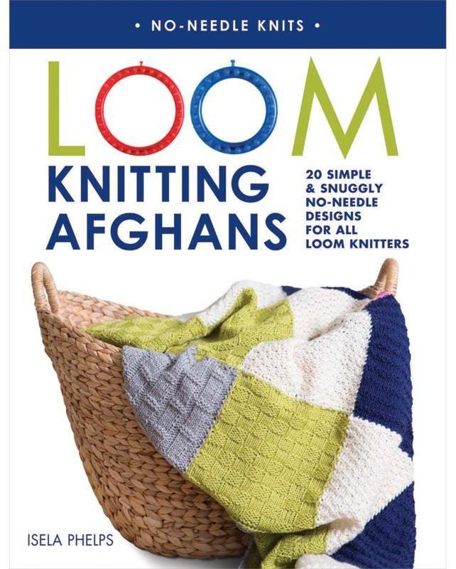 "MACMILLAN PUBLISHERS ""Loom Knitting Afghans"" Book by Isela Phelps"