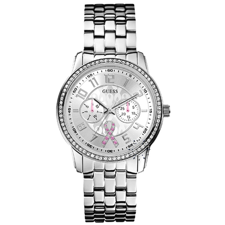 GUESS Breast Cancer Stainless Steel Bracelet  167€  http://www.oroloi.gr/product_info.php?products_id=29279