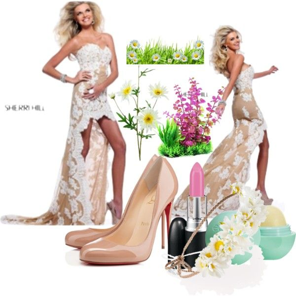 """""""2014 Sherri Hill 21016 Ivory Nude Long Dresses $283.00"""" by sherryoliver on Polyvore"""