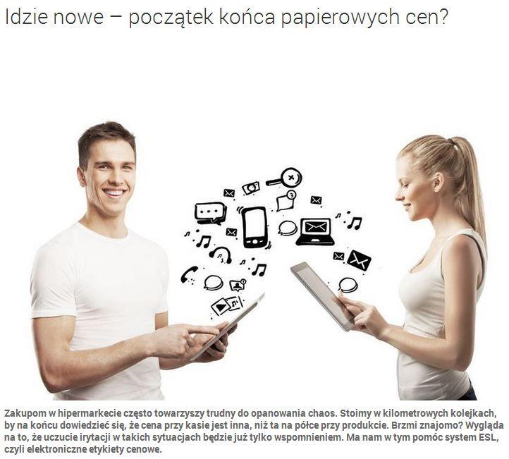 Już nastało nowe rozwiązanie zakupów w hipermarketach. Elektroniczne etykiety na półkach. Czy się przyjmą? http://www.promocyjni.pl/blog/zobacz/7071-idzie-nowe-poczatek-konca-papierowych-cena