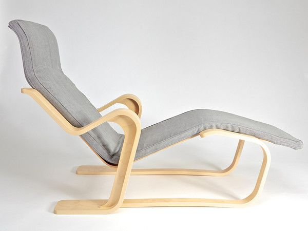 Long Chair by M.Breuer for Isokon with seat pad in Bute Fabric www.isokonplus.com