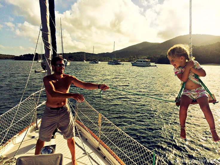 Extreme Parenting: Raising Three Toddlers On A Sailboat In The Caribbean | Bored Panda
