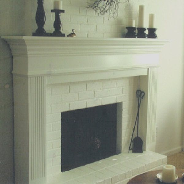 white fireplace mantel - Fireplace Surround Ideas