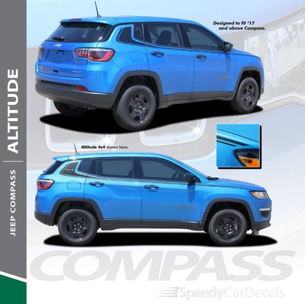 2020 2019 2018 2017 Jeep Compass Stripe Altitude 3m Premium