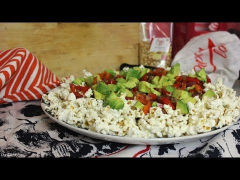 Popcorn-Salat mexikanischer Art/ Silvester/ Geburtstag/ Party/ Buffet/ mit Popcornloop (vegan) - YouTube