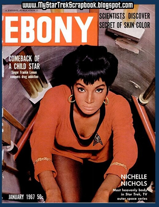 Black Porn Magazines 1971 - Nichelle Nichols (Star Trek) on the cover of Ebony, January 1967 I met her
