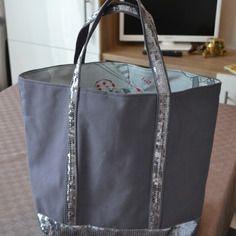 Tutos sac cabas style vanessa bruno gris anthracite