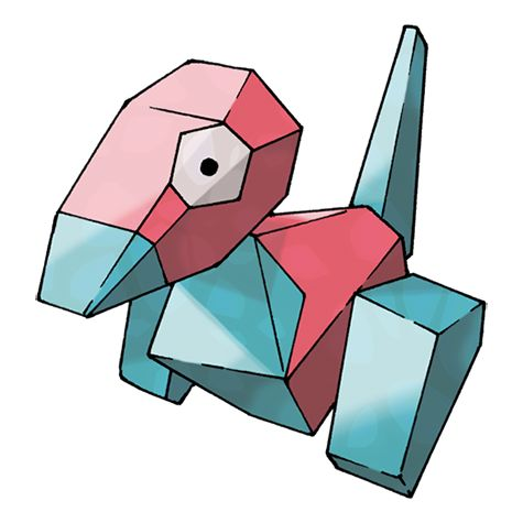 Porygon - 137 - A man-made Pokémon that came about as a result of research. It is programmed with only basic motions. A Pokémon that consists entirely of programming code. It is capable of moving freely in cyberspace.  @PokeMasters