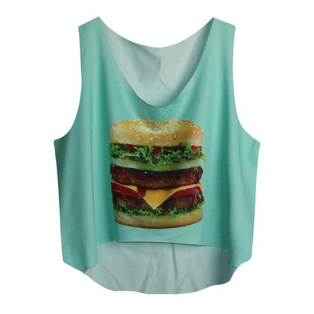 2016 Fashion Women Crop Tops Sexy Tank Tops Casual Women Emoji Top Vest Blouse Sleeveless Cartoon Crop Shirt