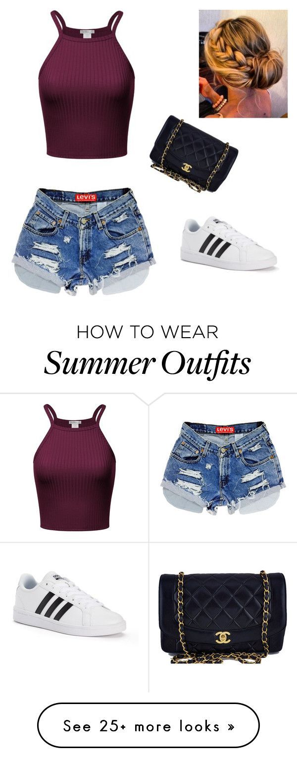 "Collection Of Summer Styles    ""Summer outfit"" by mfowkes on Polyvore featuring adidas and Chanel    - #Outfits"