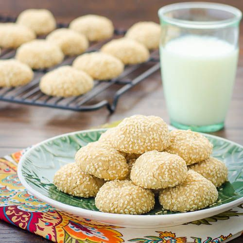 Sesame Tahini Cookies A wonderful Yemenite woman made a similar cookie, and I know I've also tasted sesame cookies in Chinese restaurants, but made with tahini, these speak with a Middle Eastern accent.