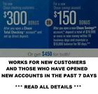 CHASE BANK $450 CASH BONUS MONEY $300 CHECKING& $150 SAVINGS ACCOUNT not 200 400 - http://couponpinners.com/coupons/chase-bank-450-cash-bonus-money-300-checking-150-savings-account-not-200-400/