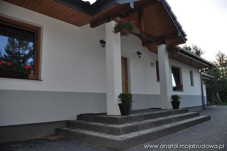 Podcień wejściowy #wejście #dom #projekt