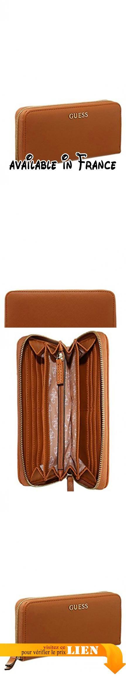 B017TYD3S0 : GUESS Sissi Large Zip Around Organizer Cognac. Marque: Guess. Série: Sissi. Dimensions exterieures (Lxlxh): 20cm x 10cm x 3cm. Type de portefeuille: Portemonnaie Femme. Format: horizontal