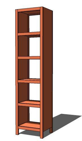 Ana White Build A 5 Cube Tower Bookshelf Free And Easy
