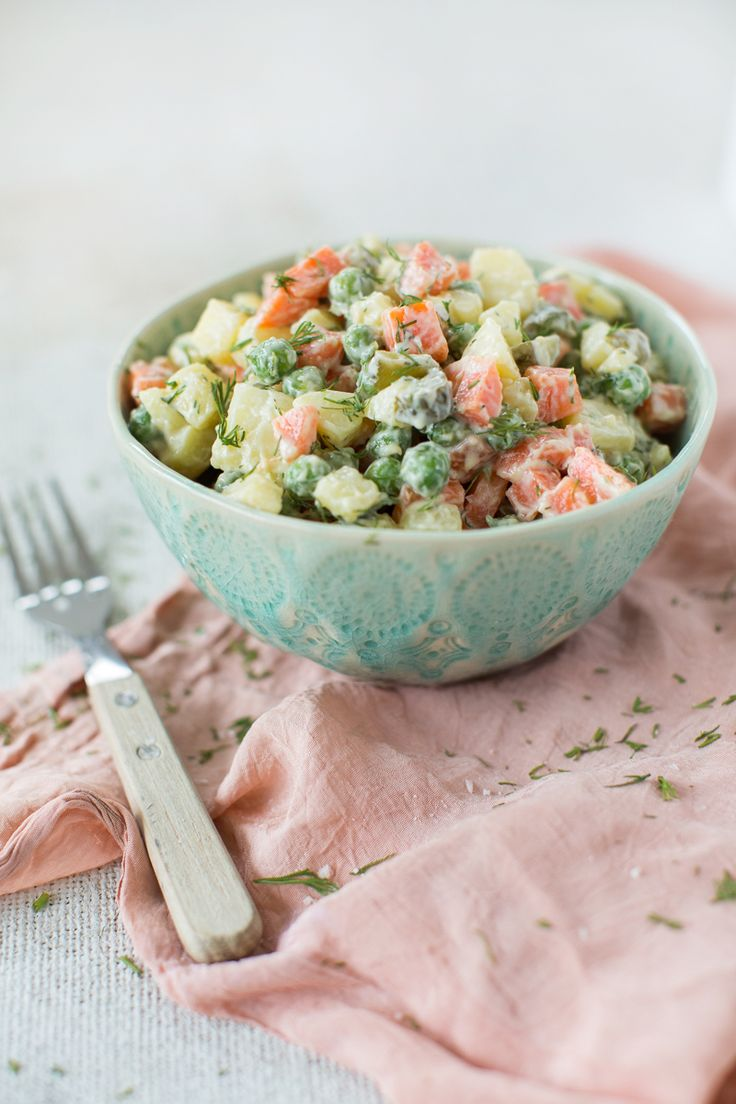 Vegan Russian Olivier Salad by The Minimalist Vegan                                                                                                                                                                                 More