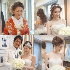 . . 観光ホテルに指名してくださったkaoriさんのまとめ。@kaori4737 . 和装でパーティースタート! . お色直ししてダウンスタイルに。 . 二次会はアップで手ぐし夜会巻きで、 . ラグジュアリーに。 . . こちらのアクセサリーもセウで。 . 購入、オーダー、レンタルもOKです♡ . . 可愛すぎました . .  #結婚式#美容師#髪型#ブライダル#ヘアアレンジ#ヘアアクセ#ヘアセット#プレ花嫁#セット#結婚#ハンドメイド#花嫁#編み込み#イヤリング#結婚式準備#前撮り#美容室#ヘアメイク#ウェディング#ヘアスタイル#アレンジ#写真#ブーケ#love#ig_japan#hairstyles#bridal#weddinghair#bridalhair#hairarrange