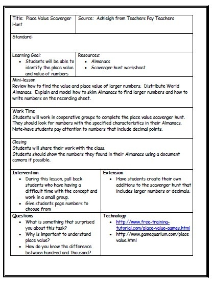 Best Teaching  Lesson Plan Template Images On