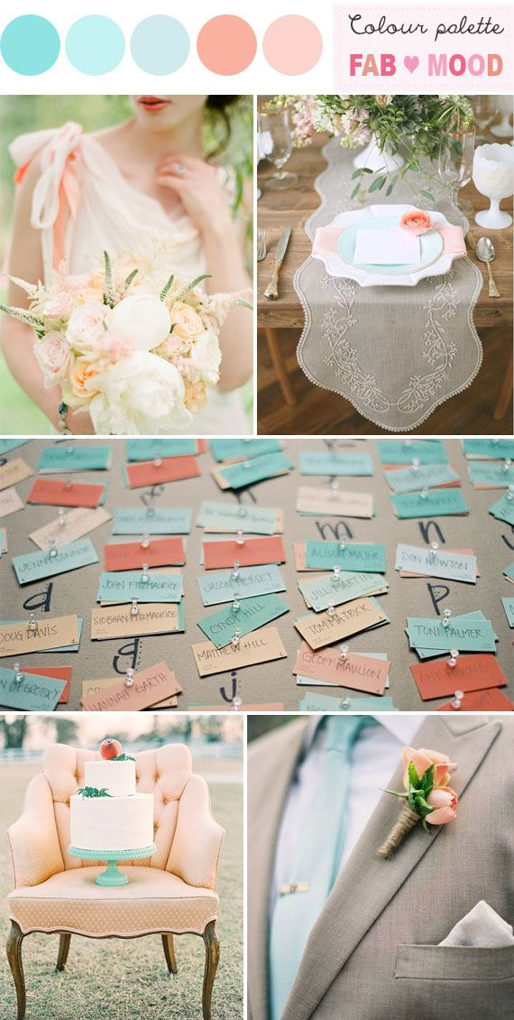 peach shabby chic wedding,tiffany blue and Peach Wedding Palette,shabby chic wedding, fabmood