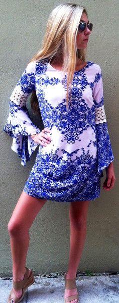Blue / White Porcelain Dress
