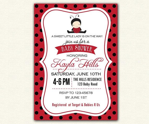 Baby girl shower invitations ladybug diabetesmangfo best ladybug baby shower images on ladybug baby baby shower invitation filmwisefo Image collections