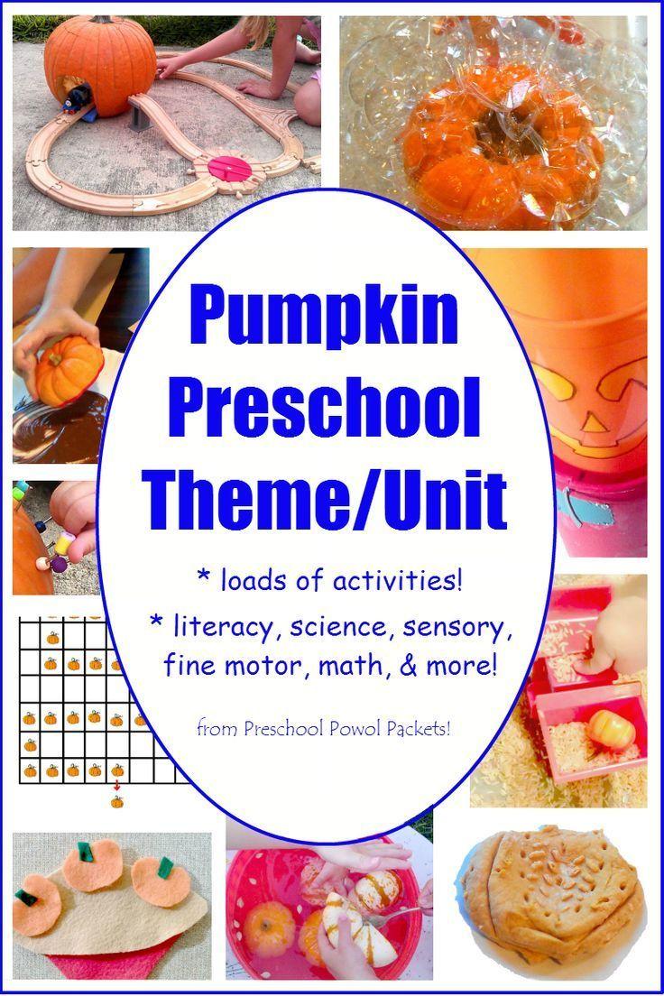 Pumpkin Preschool Activities! Perfect for a pumpkin theme or pumpkin unit! Science, literacy, sensory, and more!!
