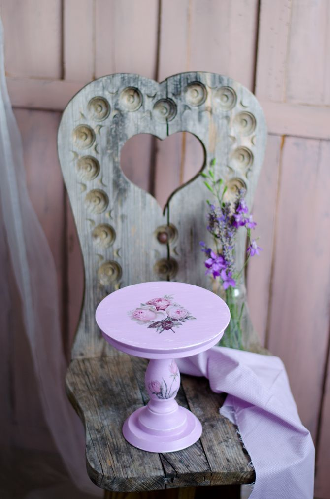 Wooden cake stand by me