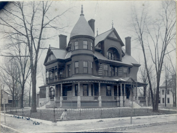 Curtis and Nira Wright Home at Carthage, Missouri The home  was designed by Carthage architect C. W. Terry in 1891 and was constructed of local limestone (first floor) and timber.