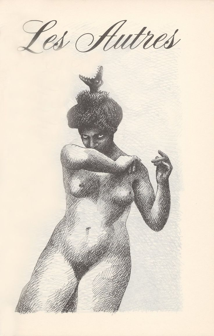 the others (pen & ink) by Roland Topor