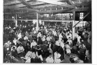 The Jam Factory in 1906, a very busy and crowded workplace situated on Chapel Street between Garden Street and the railway line.