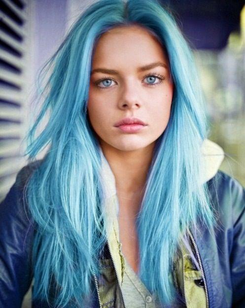 mavi saç modelleri 2017
