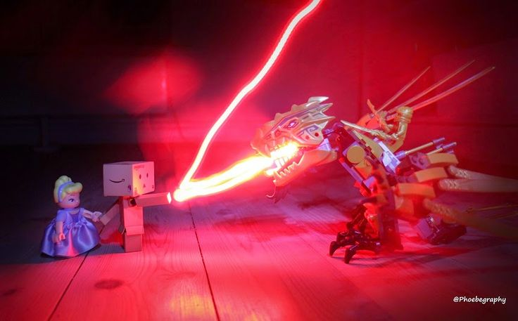Danbo trying to save #PLAYMOBIL Cinderella from #LEGO #NINJAGO