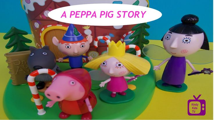 Peppa Pig Story.  Ben and Holly saves Red Riding Hood Peppa from the Big...