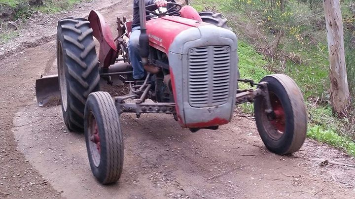 MASSEY FERGUSON 35 VINTAGE TRACTOR - FOR SALE Petrol engine  Includes attachments - grader blade /carry all /bucket /slasher (needs a part welded)/ripper. $5500 neg 0432 808 556 #rangloo, #bar, #accessories