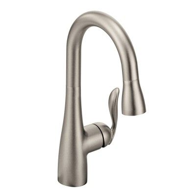 Arbor Spot resist stainless one-handle high arc pulldown bar faucet  -- 5995SRS -- Moen