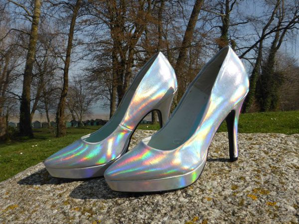 Iridescent court shoe. Find out more at http://wightcatwalk.co.uk/the-future-is-now/