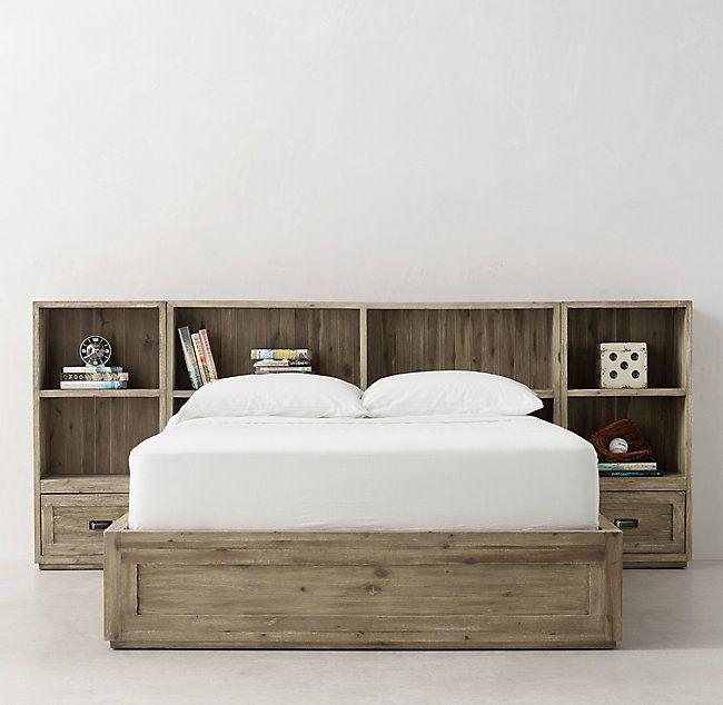 Keynes Storage Bed With Cubby Headboard Nightstand Set In 2020