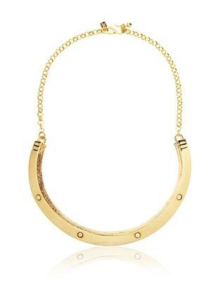 61% OFF Kenneth Jay Lane Polished Gold Screw Bib Necklace