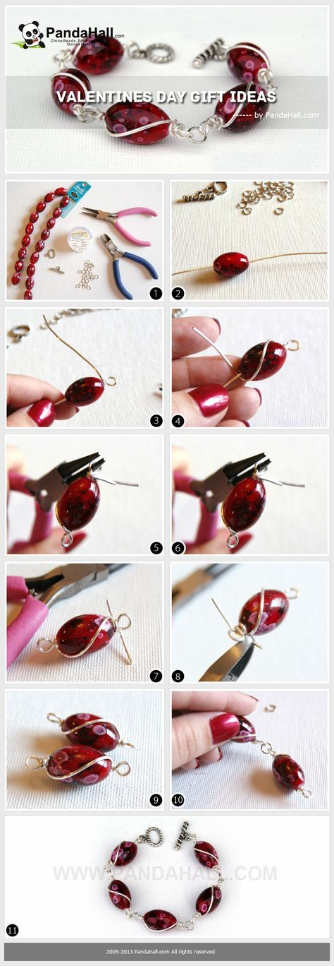 How to make bracelets with beads and wire tutorial. #Wire #Jewelry #Tutorials