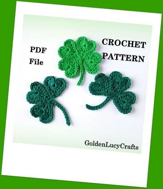 CROCHET PATTERN Free St Patricks Day Shamrock Lucky Clover