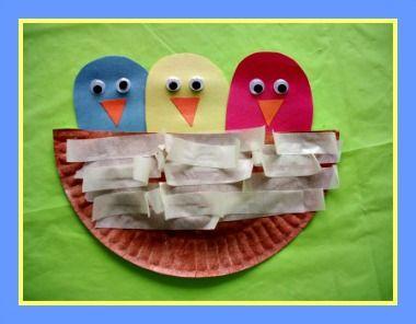 Best 75 kid bird crafts etc images on pinterest crafts for Baby bird nest craft