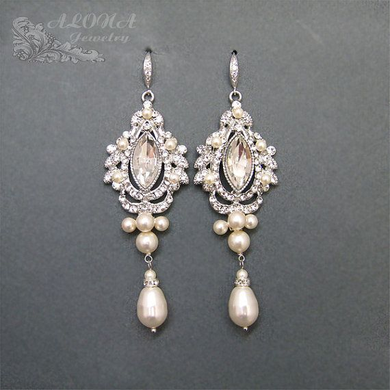 Bridal Chandelier Earrings WEdding Earrings by adriajewelry, $68.00                                                                                                                                                                                 More