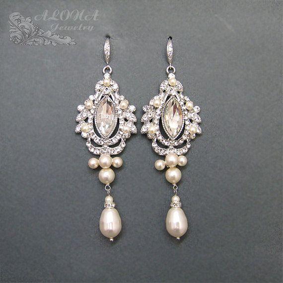 Wedding Earrings Chandelier: Bridal Chandelier Earrings WEdding Earrings by adriajewelry, $68.00,Lighting