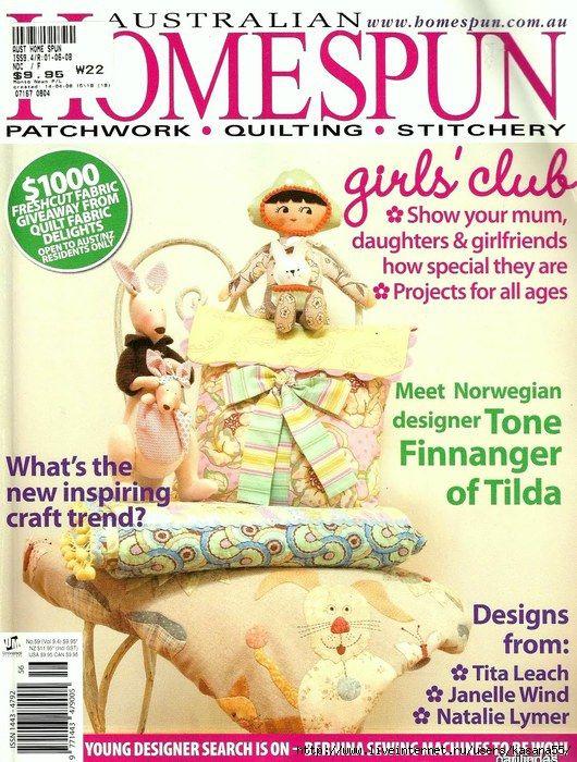 39 best Revistas Homespun images on Pinterest | Picasa, Sewing ... : australian quilt magazines - Adamdwight.com